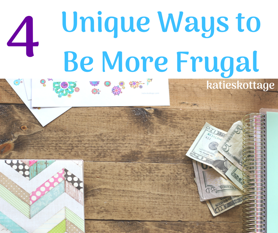 4 unique ways to be more frugal #frugallivingideas #moneysavingtips
