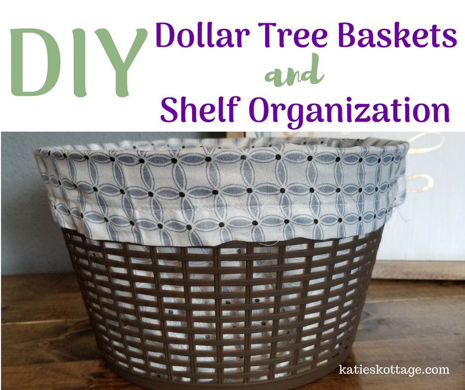 diy dollar tree baskets and shelf organization #dollarstorediy #diy #organization #baskets