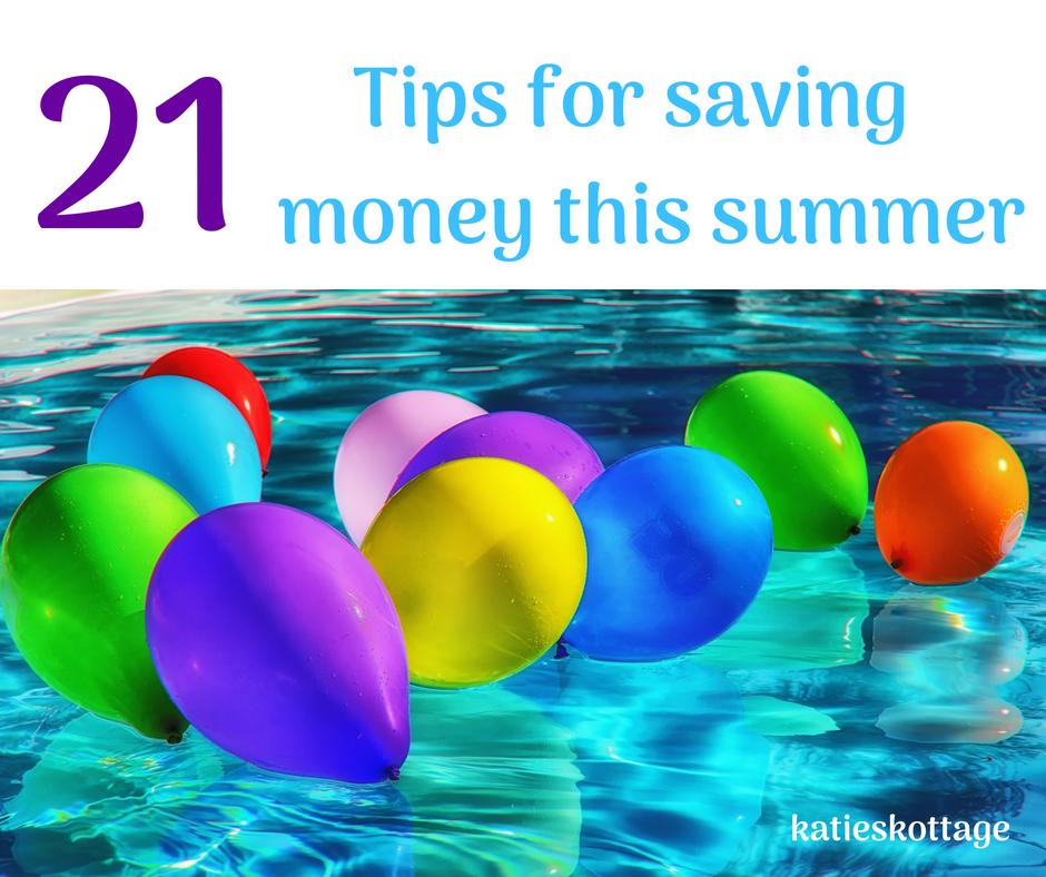 tips for saving money this summer. #frugalideas #savingmoneytips