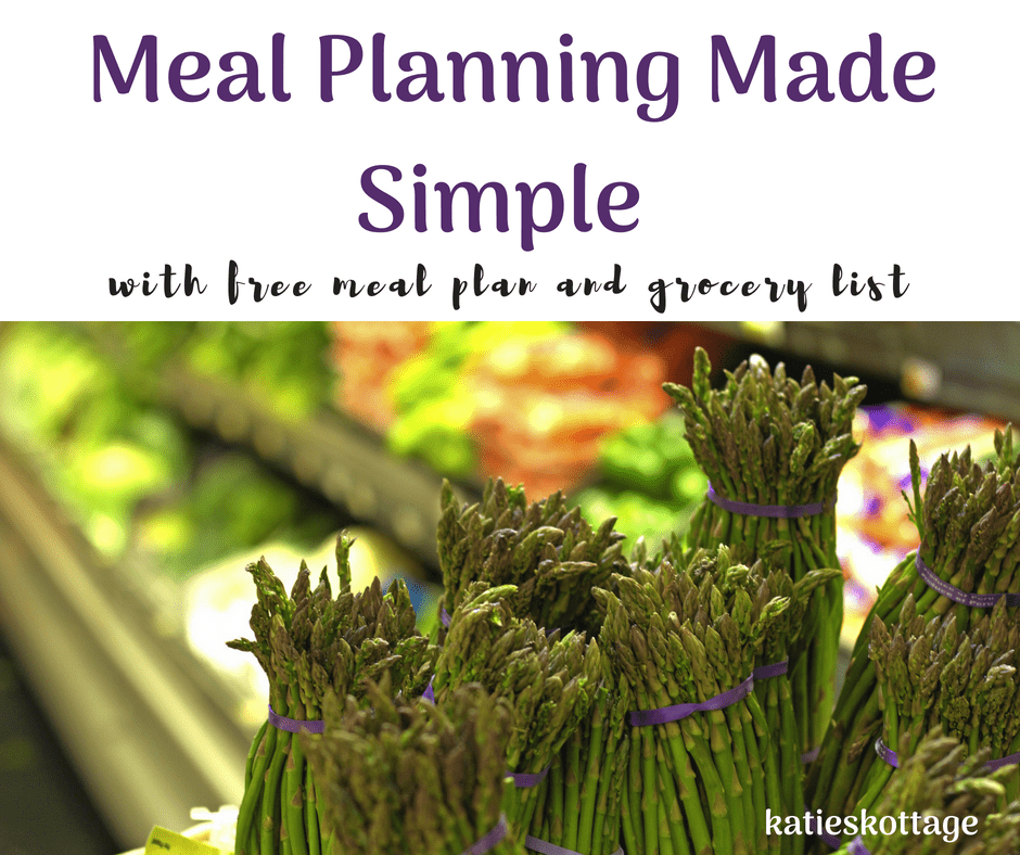 weekly meal planning with free meal plan and grocery list