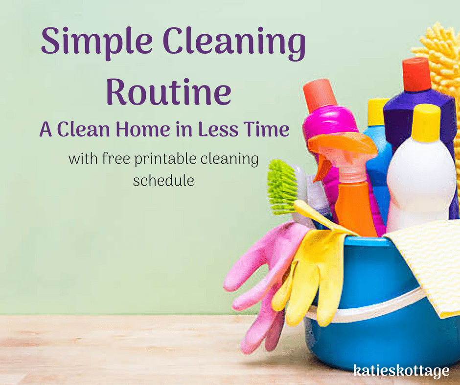 weekly cleaning routine with cleaning checklist
