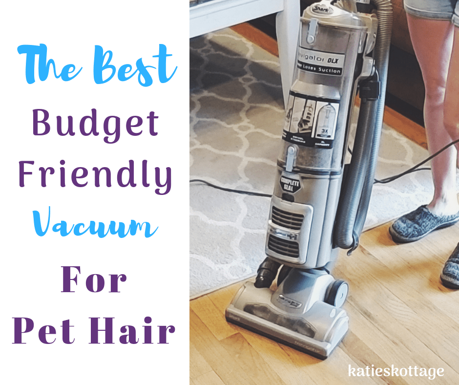 Best pet hair vacuum. This is the best budget friendly vacuum for pet hair. It works great on your carpets, hardwood floors, and furniture. Plus, you can buy it on a budget. #cleaningtips #vacuum #dogs