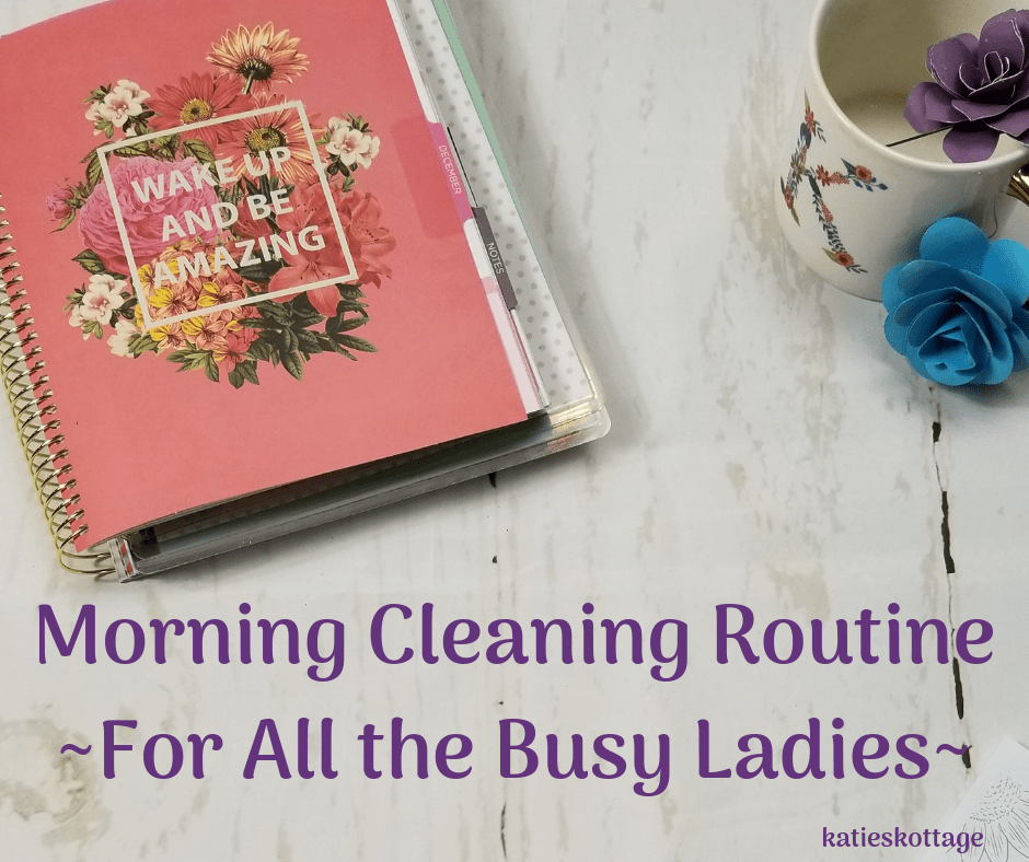 morning cleaning routine for working or stay at home moms