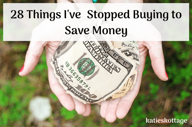 Things I stopped buying to save money and minimize. Things I stopped buying since becoming minimalist. #savemoney #budget #budgettips #money #minimalism #frugal #frugalliving