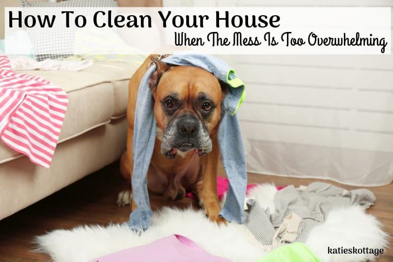 clean your house when the mess is overwhelming