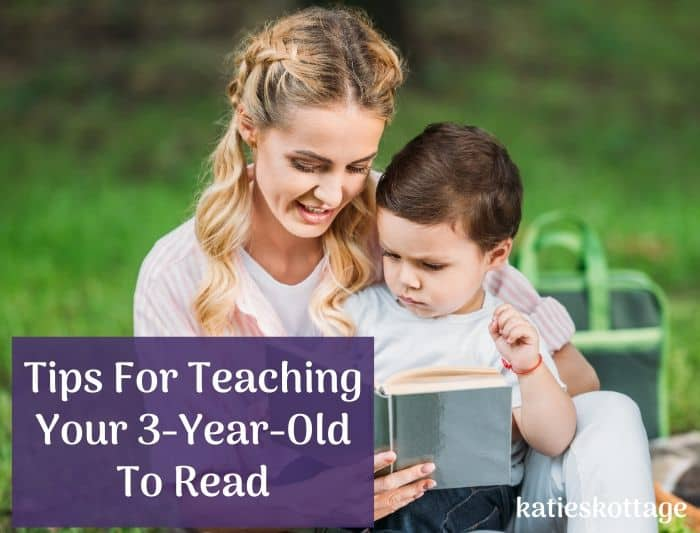 teaching a 3 year old to read
